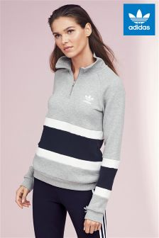 adidas Originals Grey Stripe Sweater