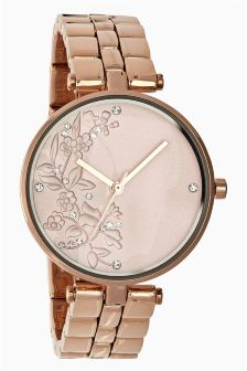 Floral Dial Face Watch