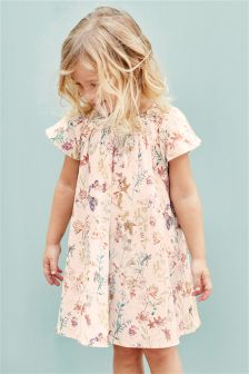 Floral Dress With Smocked Detailing (3mths-6yrs)