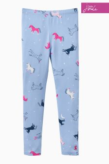 Joules Blue Unicorn Printed Legging