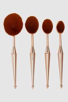 Set of 4 Oval Make Up Brushes