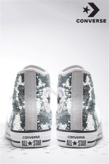Converse Silver Sequin Hi Top