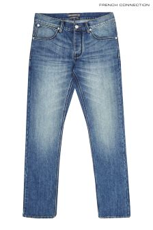 "French Connection Short 30"" Light Wash Slim Jean"