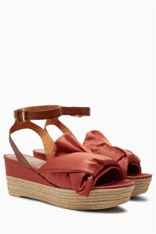 Knot Espadrille Wedges