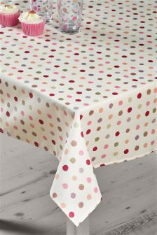 Polka Dot Wipe Clean PVC Tablecloth
