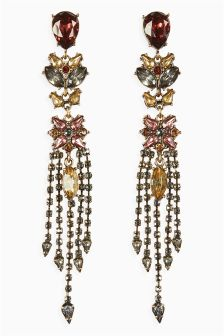 Coloured Stone Chandelier Earrings