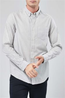 Long Sleeve Stripe Oxford Shirt