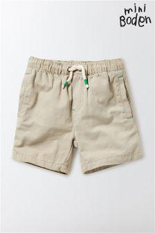 Boden Cream Drawstring Short