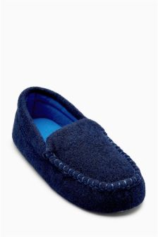 Felt Moccasin Slippers (Older Boys)