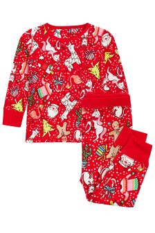 Christmas Printed Snuggle Pyjamas (9mths-8yrs)