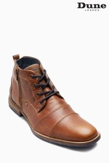 Dune Tan Captains Zip Double Toe Cap Chukka