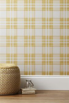 Paste The Wall Astley Check Wallpaper