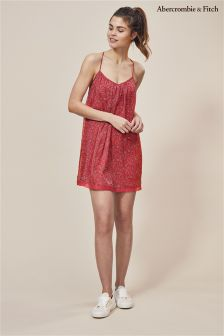 Abercrombie and Fitch Red Ditsy Dress