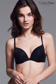 Calvin Klein Black Push Up Plunge Icon Bra