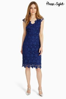 Phase Eight Lapis Petals Lace Dress