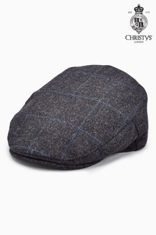 Christys' London Windowpane Flat Cap