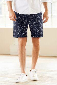 Floral Print Chino Shorts