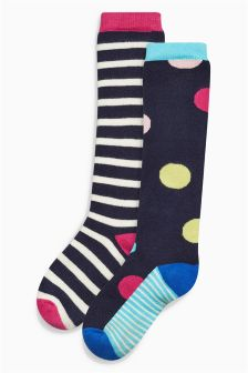 Welly Socks Two Pack (Older Girls)