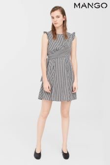 Mango Black/White Gingham Dress