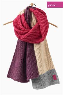 Joules Ruby Oversized Knitted Annis Scarf