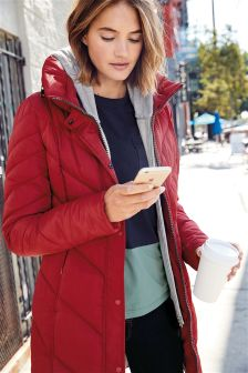 Red womens coat uk