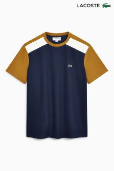 Lacoste® Navy/Yellow Colourblock T-Shirt
