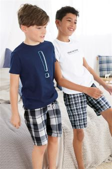 Check Woven Pyjamas Two Pack (5-16yrs)