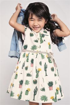 Cotton Print Shirt Dress (3-16yrs)