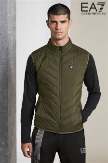 Emporio Armani EA7 Khaki Shield Light Down Gilet