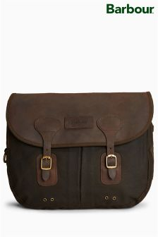 Barbour® Olive Wax Leather Tarras Bag