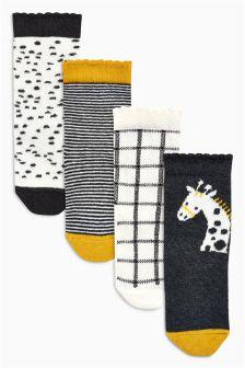Socks Four Pack (Younger Girls)