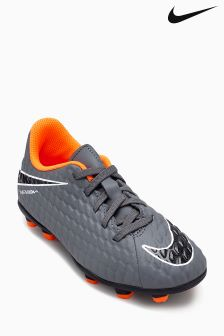 Nike Grey/Orange Hypervenom Phantom FG