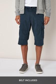 Belted Longer Cargo Shorts