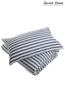 The Secret Linen Store Coastal Stripe Pillowcase