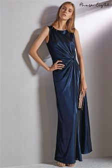 Phase Eight Cobalt Caro Shimmer Full Length Dress