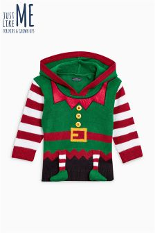 Boys Christmas Elf Sweater (3mths-6yrs)