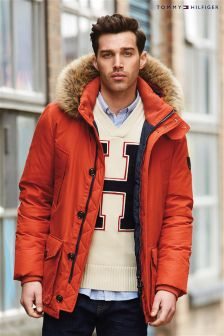 Tommy Hilfiger Orange Hampton Down Parka Jacket