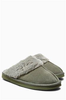 Premium Suede Mule Slippers