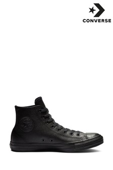 Converse Black Leather Hi Top
