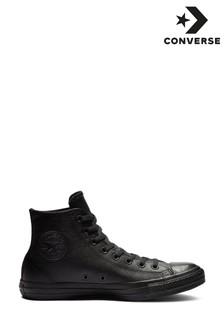 Converse Black Leather Hi Top