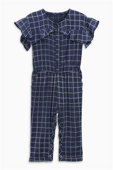 Frill Short Sleeve Playsuit (3mths-6yrs)
