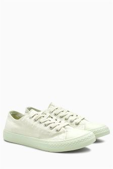 Baseball Canvas Lace-Up Trainers