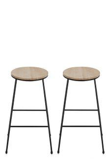 Set Of 2 Hudson Bar Stools