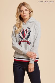 Tommy Hilfiger Cream Tate Heart Long Sleeve Hoody