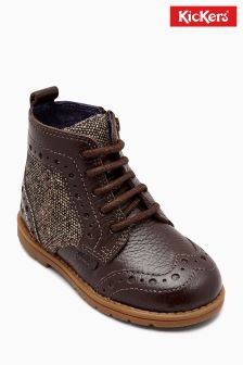 Kickers® Brown Orin Brogue Boot