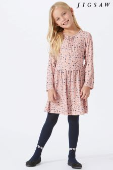 Jigsaw Pink Acorn Print Jersey Dress