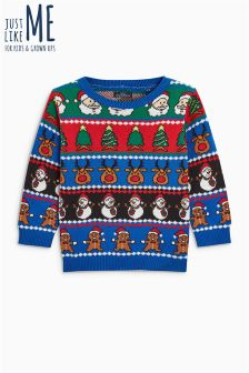 Boys Wrapping Paper Jumper (3mths-6yrs)