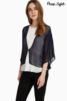 Phase Eight Navy Katy Woven Bolero