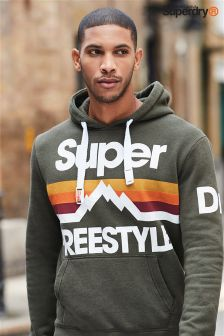 Superdry Olive Retro Mountaineer Hoody