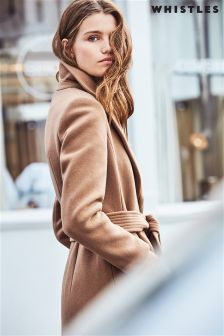 Whistles Camel Alexandra Belted Coat